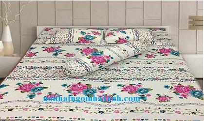 Bộ drap cotton Thắng Lợi ( Chưa bao gồm mền).