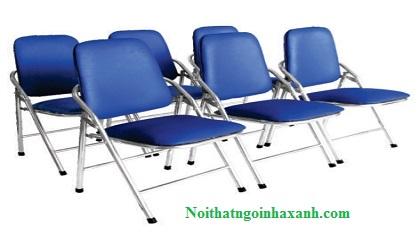 Ghế xếp văn phòng chân Inox lưng lớn GX02.