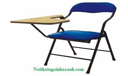 Ghế xếp liền bàn lưng nhỏ chân sắt GXLB01