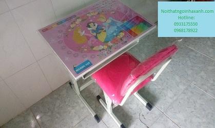 Bộ bàn ghế học sinh tăng giảm chiều cao chân sắt