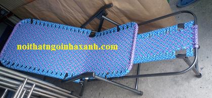 Ghế bố xếp dây đan khung dày loại tốt ống Pi25