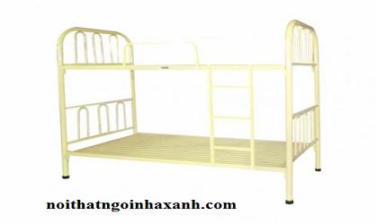 Giường sắt 2 tầng ngang 1m2 dài 2m.