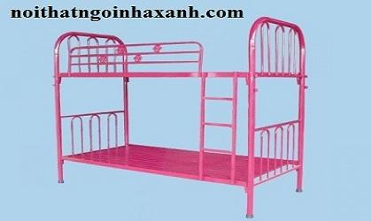 Giường sắt 2 tầng ngang 1m dài 2m.
