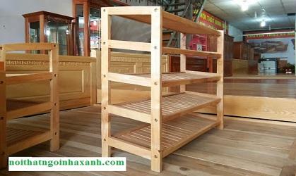 Kệ đựng giày dép 5 tầng gỗ thông tự nhiên KGD03