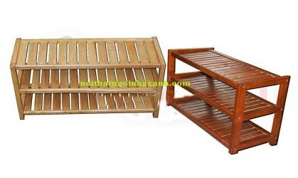 Kệ đựng giày dép 3 tầng gỗ thông tự nhiên KGD01