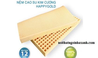 Nệm Cao Su Tự Nhiên Kim Cương happygold 1m2x2mx10cm