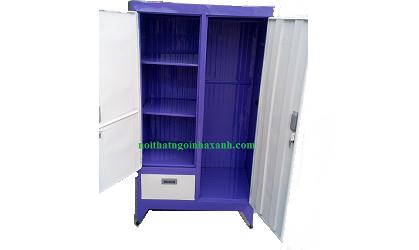 Tủ sắt quần áo sơn tĩnh điện cao 1m6 ngang 90cm (2 cánh)